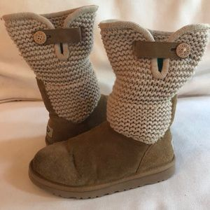 UGG suede and knit boots